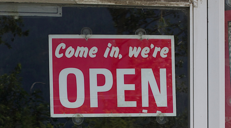Come on in, we're open. cc licensed ( BY ) flickr photo by cogdogblog: http://flickr.com/photos/cogdog/6014505867/